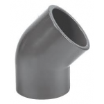 PVC ELBOW 20mm 45deg - GREY